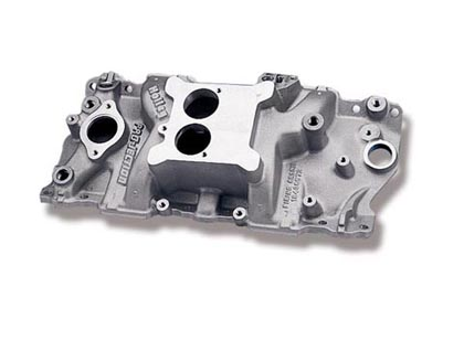 69-72 Kingswood Base, Estate V8 5.7/6.6 Holley Intake Manifold - High Rise Dual Plane Design, Power Band To 6000RPM w/ EGR, 1987-Early w/ Alum Heads,50 State Legal, Street/Strip Use Only