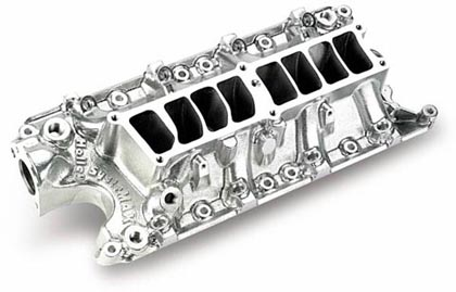 86 LTD Country Squire, Crown Victoria V8 5.0 Holley Intake Manifold - EFI, Lower Manifold, Power Band To 6500 RPM, 50 State Legal, Shiny Finish, Street/Strip Use Only
