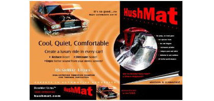 1989-1991 Ford Aerostar HushMat Ultra Hood Liner with Dampening Sheet - 6 Piece
