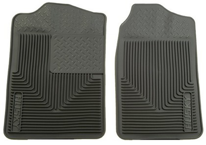 1966-1978 Dodge Charger Husky Heavy Duty Flexible Front Floor Mats ? Grey