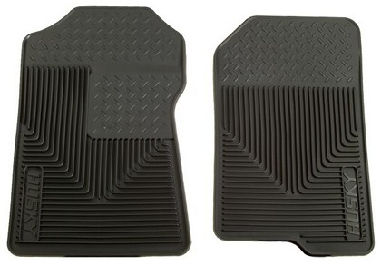 2002 Lincoln Blackwood Husky Heavy Duty Flexible Front Floor Mats ? Black