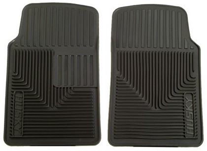 1966-1978 Dodge Charger Husky Heavy Duty Flexible Front Floor Mats ? Black