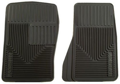 1964-1972 Mercury Cyclone Husky Heavy Duty Flexible Front Floor Mats ? Black
