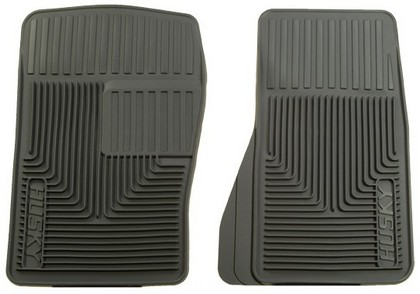 1964-1972 Mercury Cyclone Husky Heavy Duty Flexible Front Floor Mats ? Grey