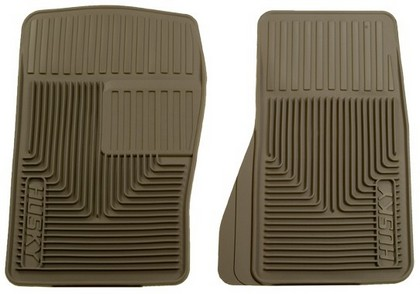 1964-1972 Mercury Cyclone Husky Heavy Duty Flexible Front Floor Mats ? Tan