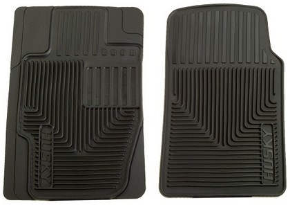 1988-1994 Audi V8 Husky Heavy Duty Flexible Front Floor Mats ? Black