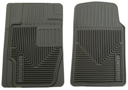 1988-1994 Audi V8 Husky Heavy Duty Flexible Front Floor Mats ? Grey