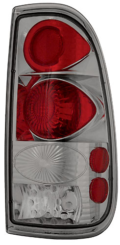 08-09 Ford F350 In Pro Car Wear Tail Lamps, Crystal Eyes - Set - Platinum Smoke - Styleside