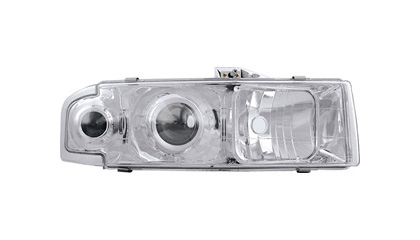95-03 Chevrolet Astro In Pro Car Wear Headlights - Crystal Eye Projector (Clear)