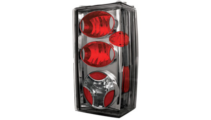 84-96 Jeep Cherokee In Pro Car Wear Tail Lights - Platinum Smoke