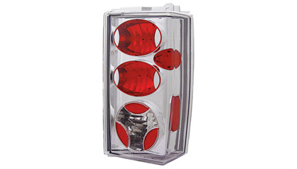 84-96 Jeep Cherokee In Pro Car Wear Tail Lights - Crystal Clear