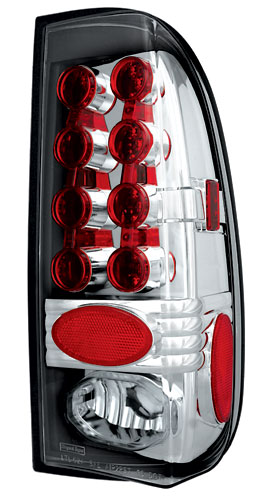 08-09 Ford F350 In Pro Car Wear Tail Lamps, LED - Set - Crystal Clear