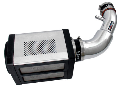 07-09 Wrangler 3.8L V6 Injen Power-Flow Intake System w/ Power Box, Pre-Filter Screen, & AMSOIL Dry Filter (Wrinkle Black)