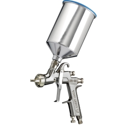 1967-1969 Chevrolet Camaro Iwata LPH400-154LV Center Post Gravity Feed HVLP Spray Gun With 1000ml Cup