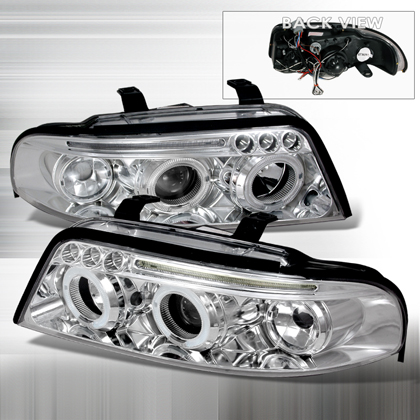 00-01 Audi A4 JY Projector Headlights - Chrome