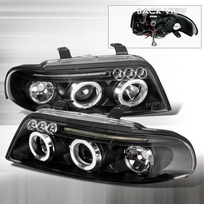 00-01 Audi A4 JY Projector Headlights - Black