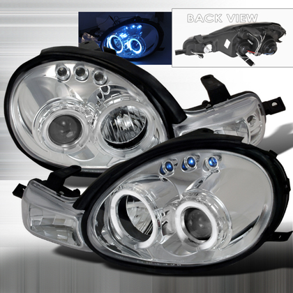 00-02 Dodge Neon JY Projector Headlights - Chrome