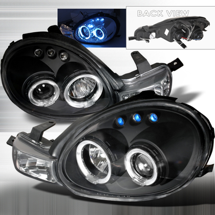 00-02 Dodge Neon JY Projector Headlights - Black