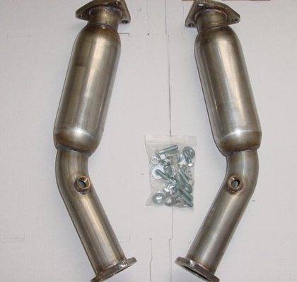 2003-2006 Infiniti G35  Kinetix Racing 350Z / G35 Stainless Steel Test Pipes w/ Resonator