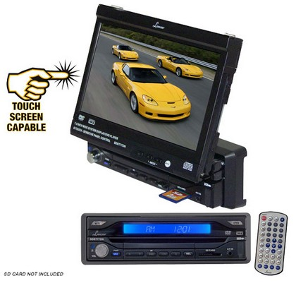 "1973-1979 Ford F150 Lanzar 7"" Motorized TFT Touch Screen DVD/ CD/ MP3 Player/ AM/ FM/ SD Card-USB"