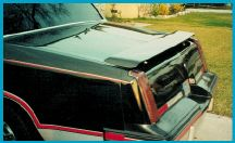 78-80 Cutlass Lauren Engineering Paintable Wing - Rear Deck Spoiler