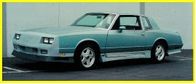 1981-1988 Chevrolet Monte_Carlo Lauren Engineering Body Kit - Camaro Nose Conversion