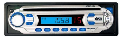 1964-1973 Ford Mustang Legacy AM/FM LCD Display Receiver Auto Loading CD Player W/Detachable Face