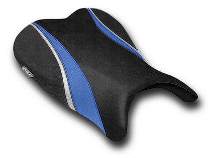06-07 Suzuki GSXR 600 Luimoto Team Suzuki Seat Cover - Rider (Smooth Vinyl - White / Blue / Silver / Black)