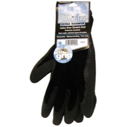1966-1967 Ford Fairlane MAGID Black Winter Knit, Latex Coated Palm Gloves - Medium