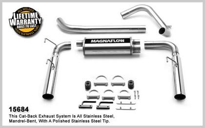 1998-2002 Chevrolet Camaro Magnaflow Performance Exhaust - Dual Split Rear Exit, Cat-Back