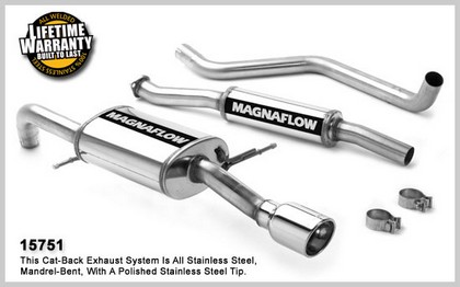 01-03 Mazda Protege MP3 2.0L 4Cyl. 4DR Magnaflow Performance Exhaust - Single Rear Exit, Cat-Back