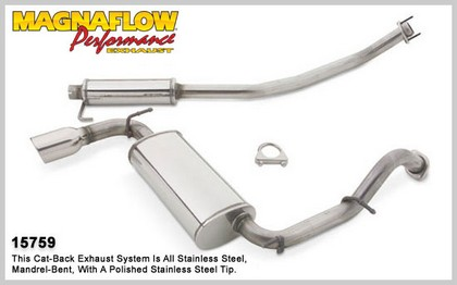 03-05 Toyota Matrix XP FWD Magnaflow Performance Exhaust - Single Rear Exit, Cat-Back