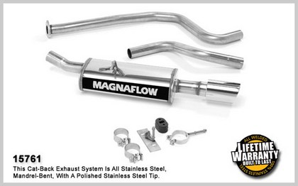 96-04 Chevrolet Cavalier 2.2L / 2.4L 4Cyl. Magnaflow Performance Exhaust - Single Rear Exit, Cat-Back