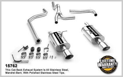 96-04 Chevrolet Cavalier 2.2L / 2.4L 4Cyl. Magnaflow Performance Exhaust - Dual Split Rear Exit, Cat-Back