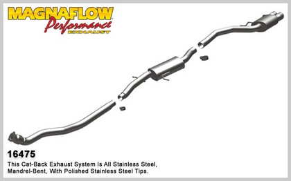 2010 A5 Quattro, L4 2.0L; Turbocharged Magnaflow Cat-back Exhaust System