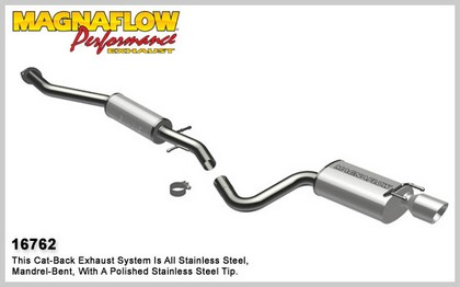 01-05 IS300, 6-cyl 3.0L Magnaflow Performance Exhaust - Single Rear Exit, Cat-Back