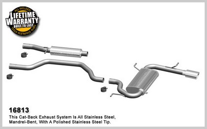 08-09 Avenger, L4 2.4L Magnaflow Performance Exhaust - Single Rear Exit, Cat-Back