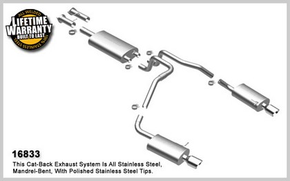 "02-10 Trailblazer L6 4.2L GAS; 113"" Wheelbase Magnaflow Performance Exhaust - Dual Split Rear Exit, Cat-Back"