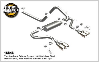 Camaro Quad Exhaust on Magnaflow Performance Exhaust   Quad Split Rear Exit  Cat Back