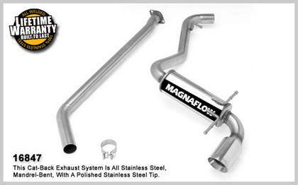 08-10 Impreza H4 2.5L GAS; WRX Hatchback Magnaflow Performance Exhaust - Single Rear Exit, Cat-Back