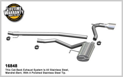 09-10 Matrix L4 2.4L; S Models, AWD Magnaflow Performance Exhaust - Single Rear Exit, Cat-Back