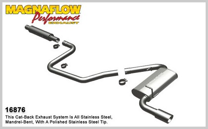 08-09 G6; V6 3.5L GAS Magnaflow Performance Exhaust - Single Rear Exit, Cat-Back