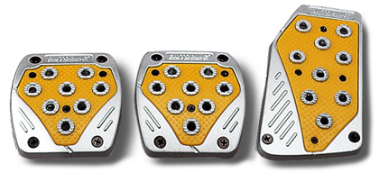 1969-1976 Porsche 914 Matrix Universal Pedals - Import (Silver/Yellow)