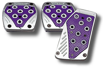 1969-1976 Porsche 914 Matrix Universal Pedals - Import (Silver/Purple)