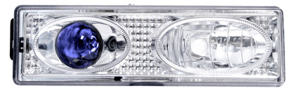 92-98 Chevrolet Suburban Matrix Headlights - Projectors (Chrome Blue)
