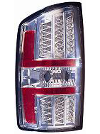 02-06 RAM Maxzone Tail Lights - LED Chrome