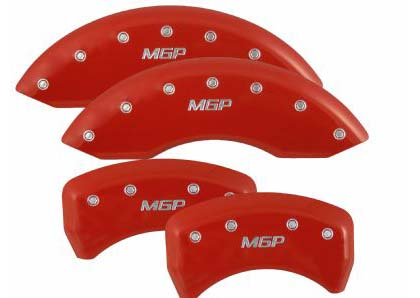 "06-08 350Z MGP Full Set Caliper Covers w/ MGP Logo - Fits on 18"" wheels and up (Red)"