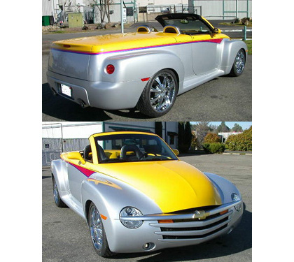 03-06 Chevrolet SSR Motorsports Performance Design Inc. Running Boards - Running Boards