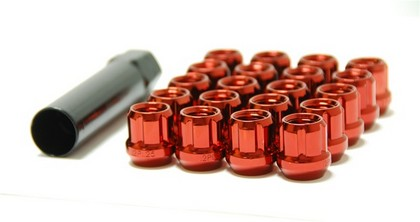 91-96 Mercury Tracer Muteki Open Ended Lug Nuts 12x1.5 (Red)