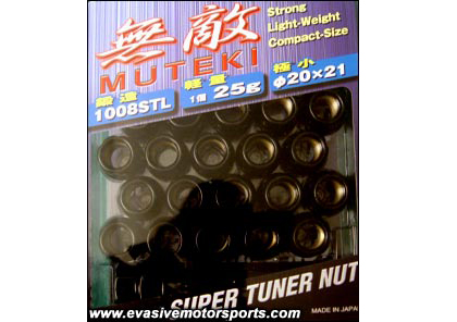 01-Up Ford Escape Muteki SR35 Open End Lug Nuts 12x1.5 (Black)